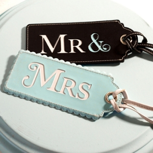 Luggage tags for the bride & groom