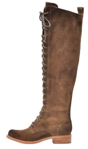 Tall Lace up Suede Boot